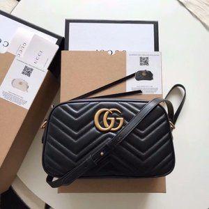 anas NWT Gucci Marmont Matelasse crossbody bags